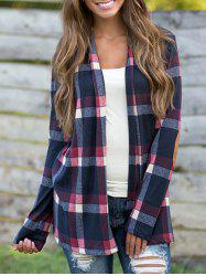Long Sleeve Elbow patch Checked Shirt -