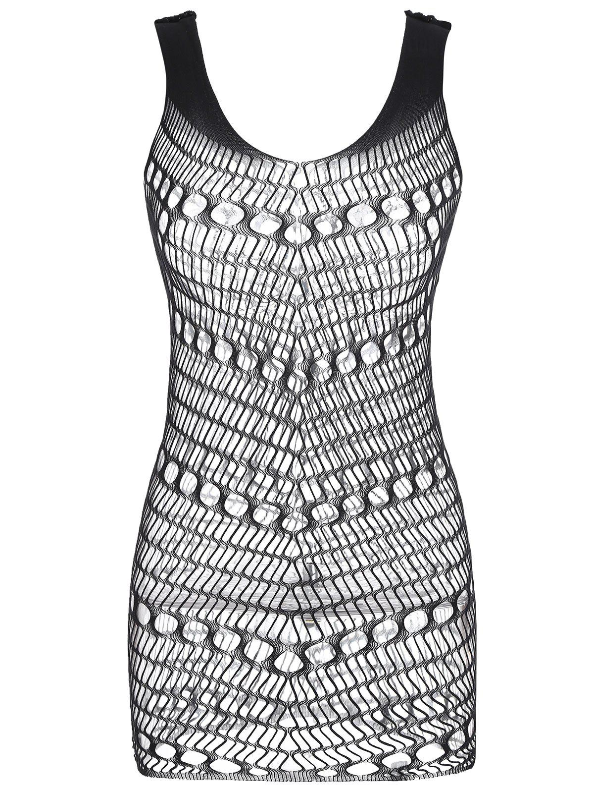 Hot Openwork Short Lingerie Dress