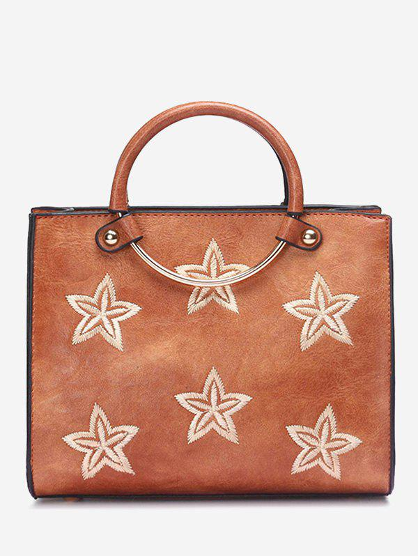 Affordable Round Ring Stars Embroidery Handbag