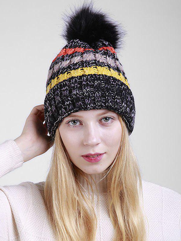 Outfit Outdoor Crochet Pom Knitted Slouchy Hat