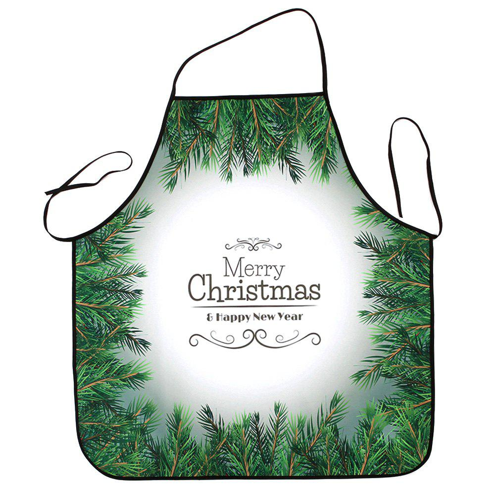 Unique Christmas Pine Tree Print Waterproof Kitchen Apron