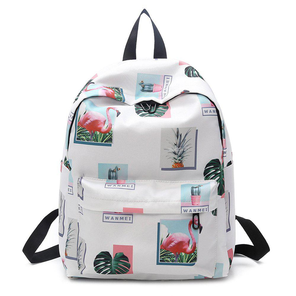 Store Print Patchwork School Backpack