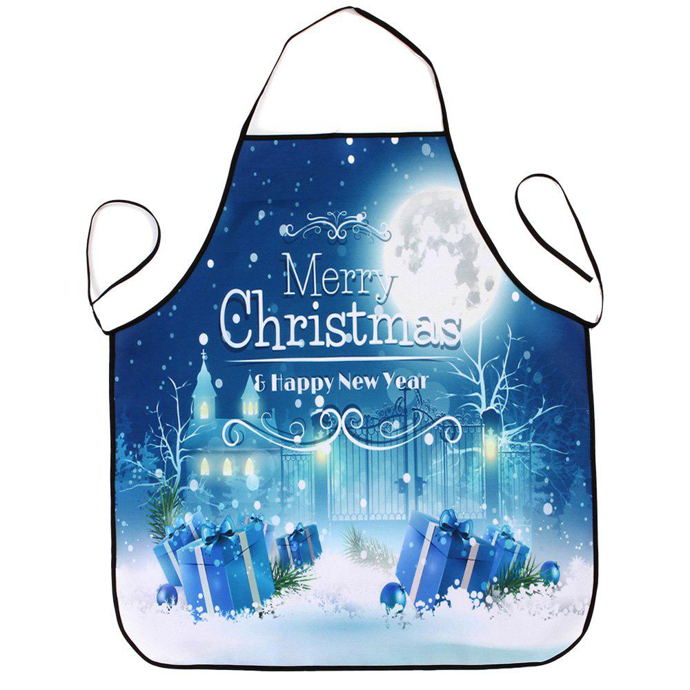 Christmas Night Gifts Print Waterproof Kitchen ApronHOME<br><br>Size: 80*70CM; Color: COLORMIX; Type: Apron; Material: Polyester; Pattern Type: Letter; Weight: 0.0800kg; Package Contents: 1 x Apron;