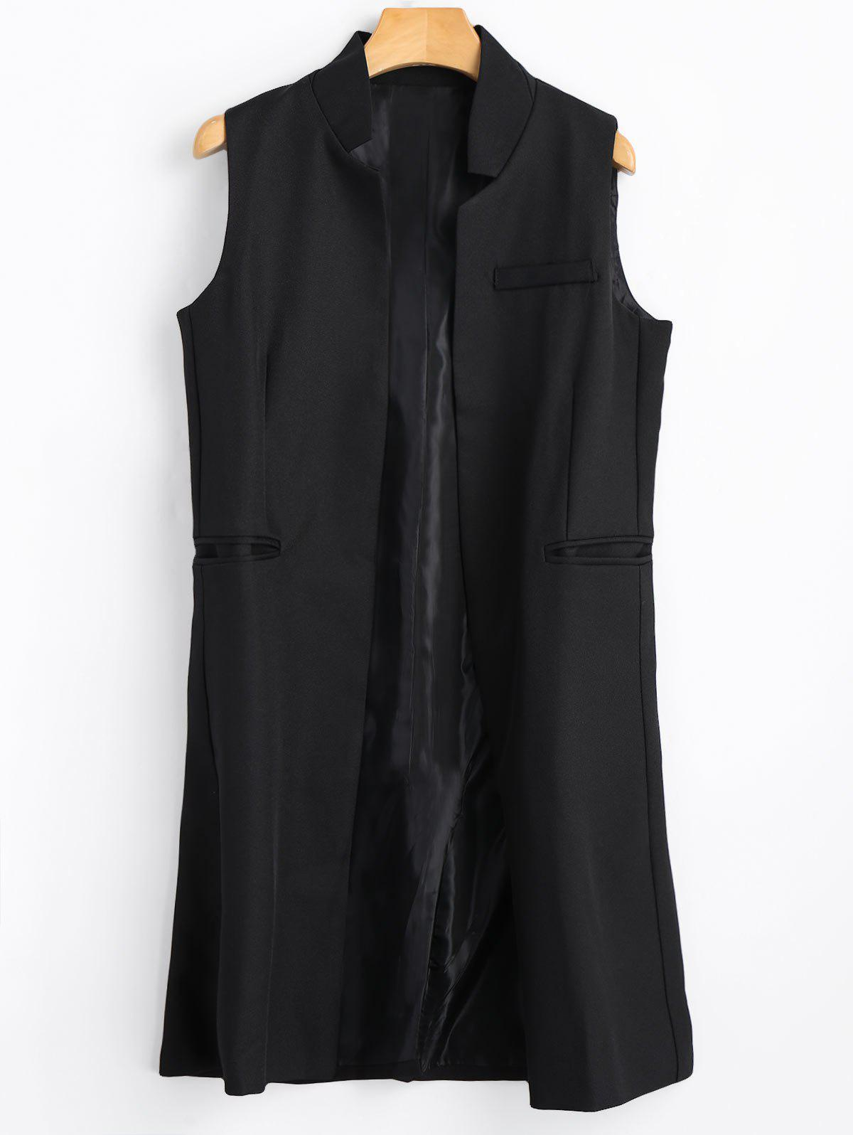 Trendy Long Open Front Vest