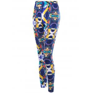 High Waist Graphic Tight Leggings - COLORMIX 2XL