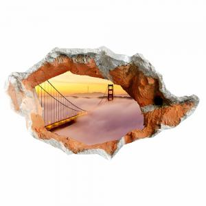 3D Hole Suspension Bridge Floor Sticker Waterproof Wall Decal -