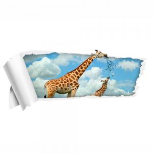 Removable 3D Floor Decal Giraffe Wall Sticker -
