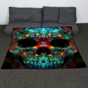 Coral Fleece Halloween Colored Skull Print Blanket - COLORFUL W47INCH*L59INCH