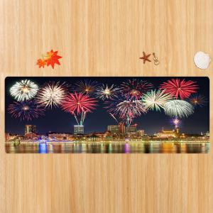 Tapis de protection anti-débordement de la ville Firework Pattern -
