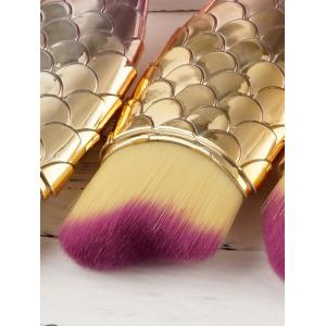 3 Pieces Small Fish Makeup Brush Set -
