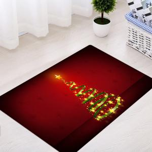 Christmas Star Tree Pattern Anti-skid Water Absorption Area Rug -
