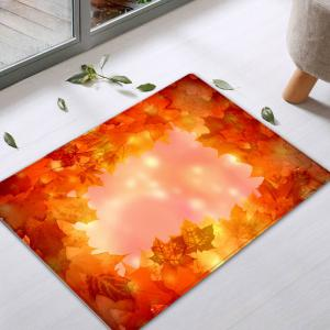 Maple Leaves Pattern Anti-skid Water Absorption Area Rug -