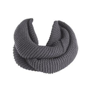 Woolen Yarn Knit Plain Infinite Scarf -