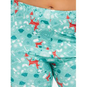 Plus Size Deer Pattern Christmas Pants - CLOUDY 3XL