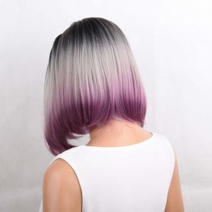 Medium Center Parting Straight Bob Ombre Synthetic Wig -