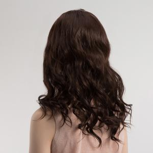 Middle Part Fluffy Long Wavy Synthetic Wig -