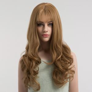 Long See-through Bang Fluffy Curly Synthetic Wig -