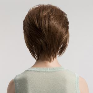 Side Bang Fluffy Short Straight Synthetic Wig -