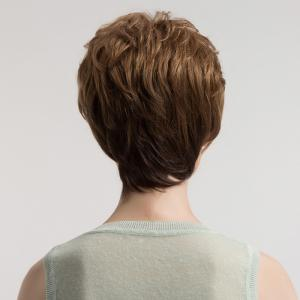 Short Side Bang Shaggy Layered Textured Slightly Curly Synthetic Wig -