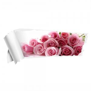 3D Rose Removable Wall Decor Sticker - PINK