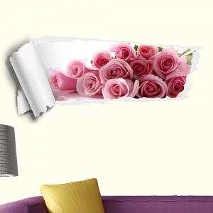 3D Rose Removable Wall Decor Sticker -