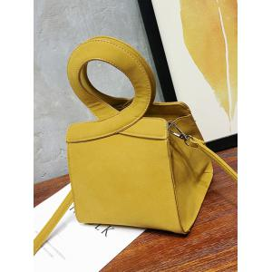 Criss Cross PU Leather Handbag -