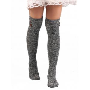 Button Knitted Stockings -