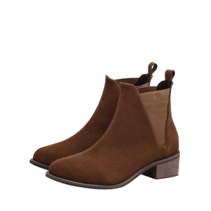 Elasticized Panels Slip On Ankle Boots -