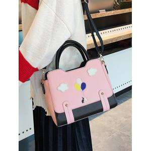 Rivets Patchwork Color Block Crossbody Bag -