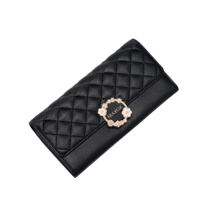 Quilted Floral Wallet -