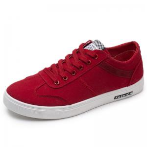 Faux Suede Round Toe Skate Shoes -