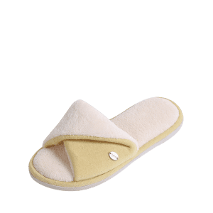 Open Toe Faux Shearling Fluffy Slippers -