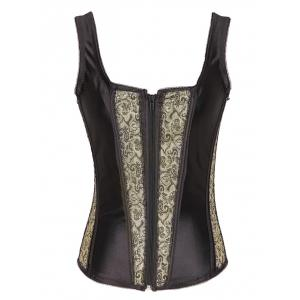 Lace-up Zipper Corset Vest -