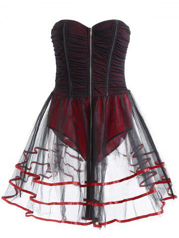 Sleeveless Strapless Underwire Club Corset Dress
