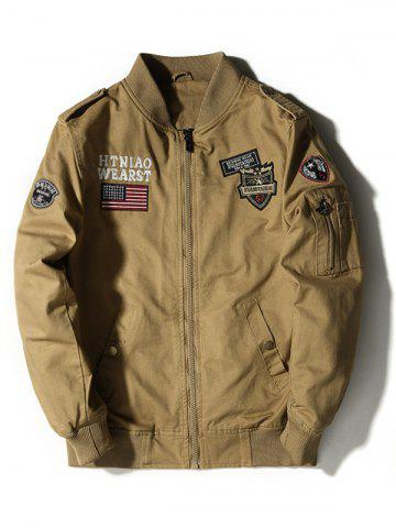 Store Applique Enbroidered Bomber Jacket