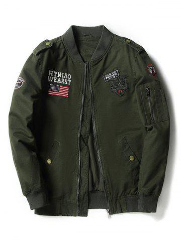 Cheap Applique Enbroidered Bomber Jacket