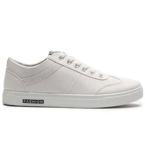 Shops Zigzag Embroidered Low Top Skate Shoes WHITE 43