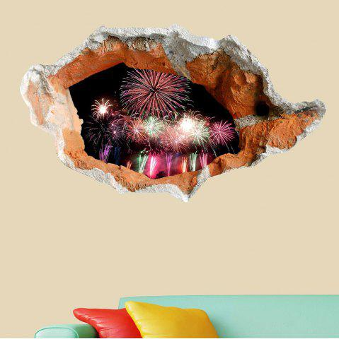 Buy 3D Hole Fireworks Floor Decal Waterproof Wall Sticker - COLORFUL  Mobile