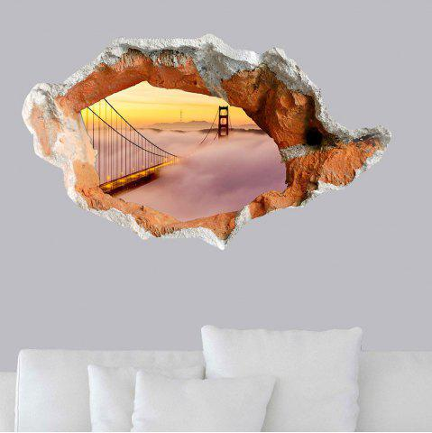 Best 3D Hole Suspension Bridge Floor Sticker Waterproof Wall Decal