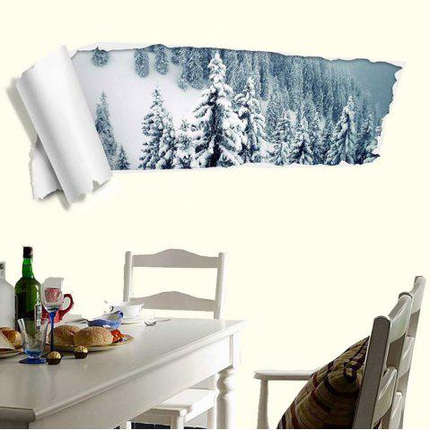 Fancy 3D Snow Forest Removable Wall Decal