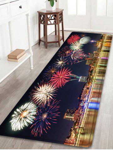 Tapis de protection anti-débordement de la ville Firework Pattern