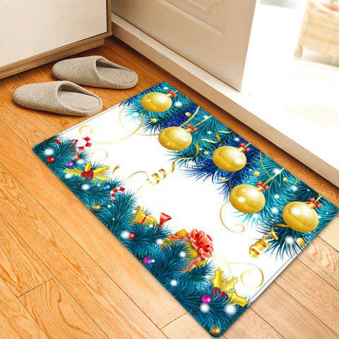 New Christmas Baubles Tree Pattern Anti-skid Water Absorption Area Rug