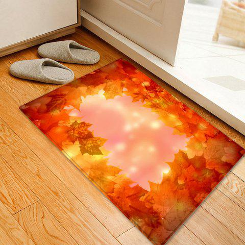 Trendy Maple Leaves Pattern Anti-skid Water Absorption Area Rug