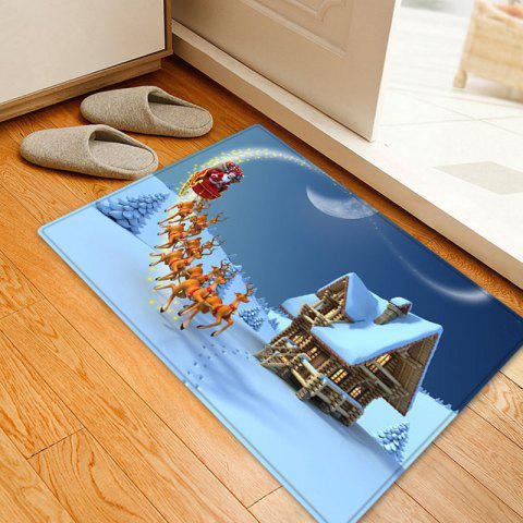 Cheap Christmas Santa Deer Sleigh Pattern Anti-skid Water Absorption Area Rug - W16 INCH * L24 INCH WHITE Mobile