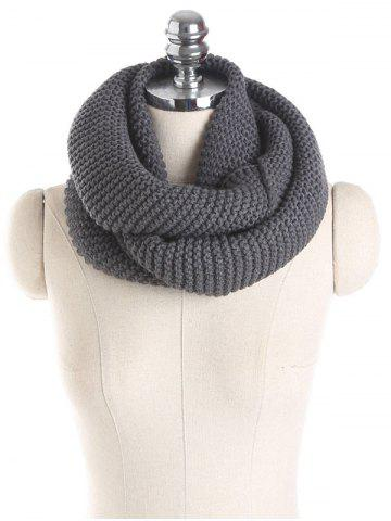Store Woolen Yarn Knit Plain Infinite Scarf