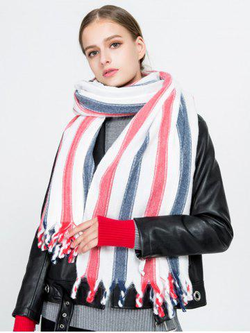 Hot Tassel Vertical Stripe Pattern Long Scarf
