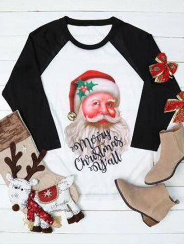 Shops Plus Size Raglan Sleeve Santa Claus Sweatshirt - XL COLORMIX Mobile