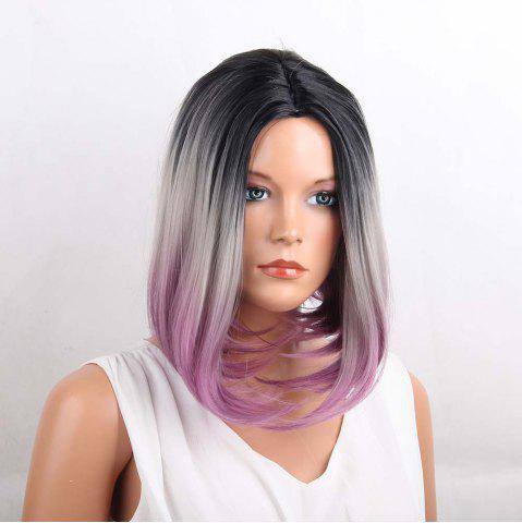 Online Medium Center Parting Straight Bob Ombre Synthetic Wig