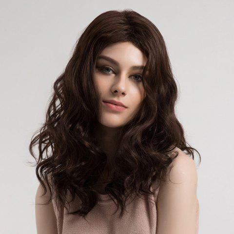 Shop Middle Part Fluffy Long Wavy Synthetic Wig
