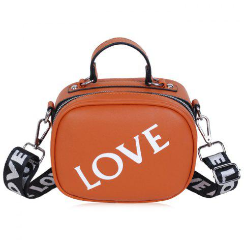 Sale Print Letter Faux Leather Crossbody Bag